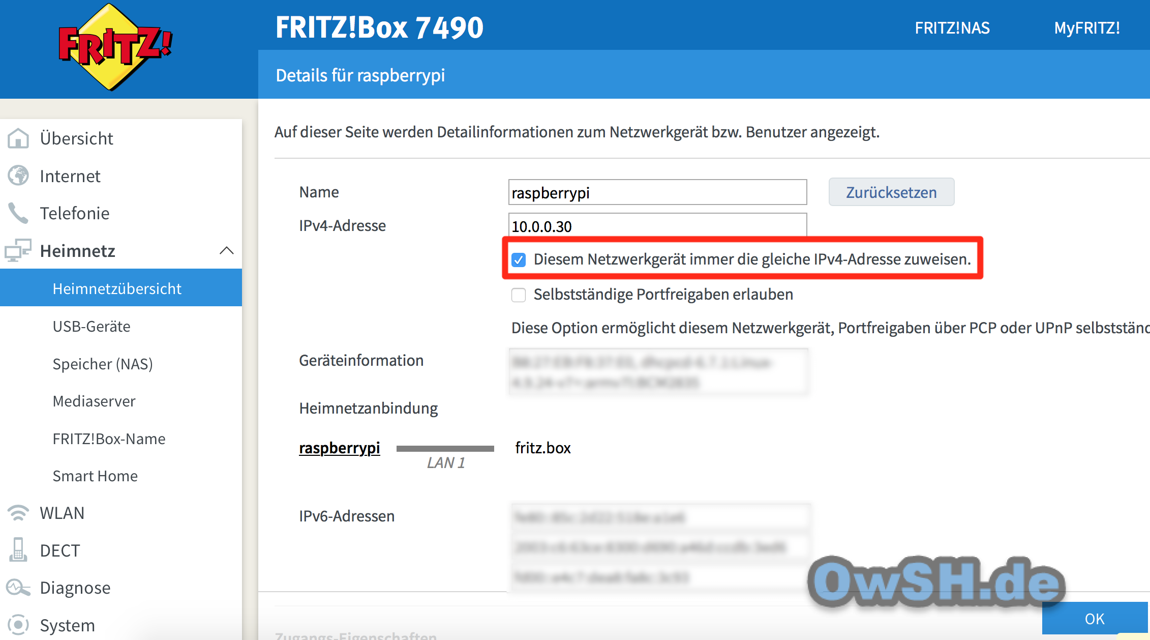 dauer ip - Howto: FHEM Server auf Raspberry einrichten