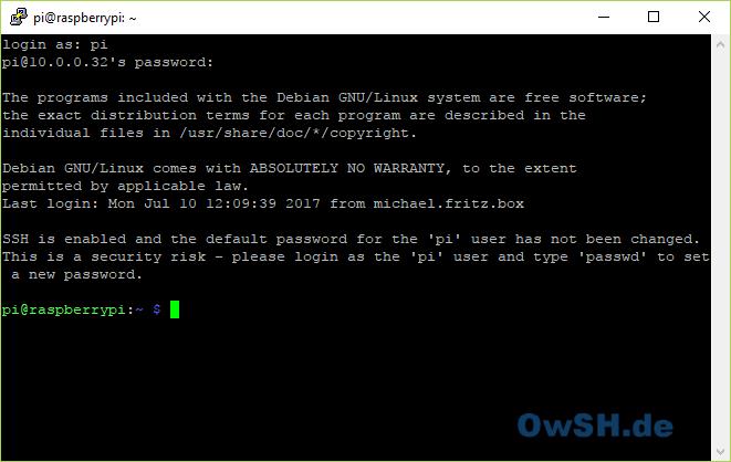 puttylogin - Howto: FHEM Server auf Raspberry einrichten