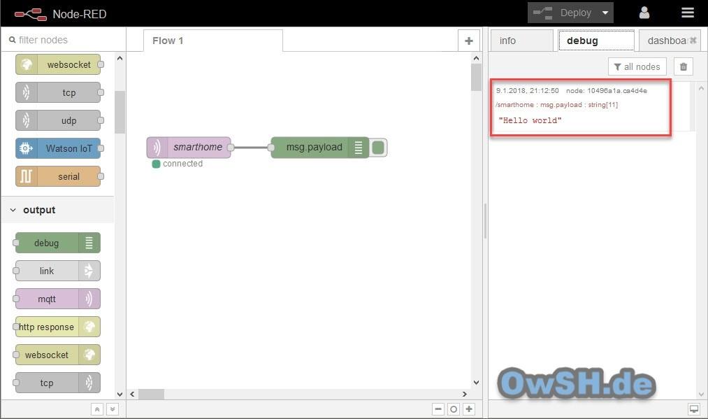 node red mqttfx ready - Tutorial: Installation von Node-Red und Mosquitto