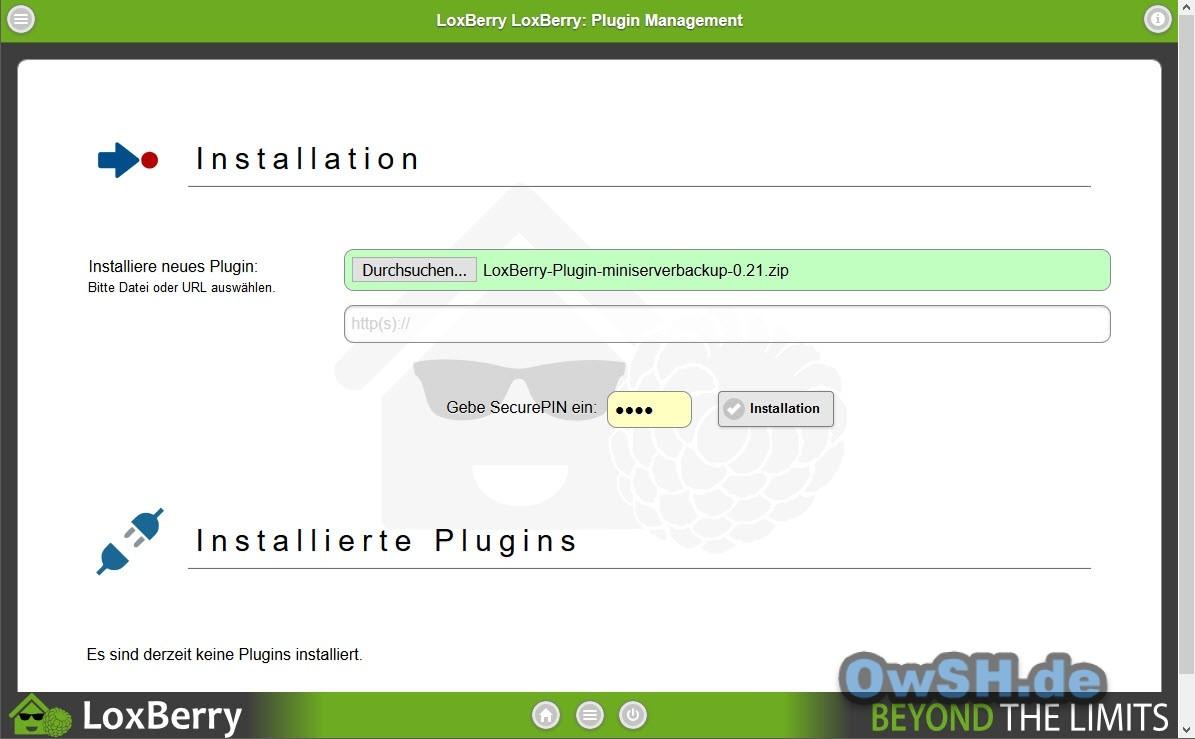 loxberry miniserverbackup - Automatisches Backup des Loxone Miniservers
