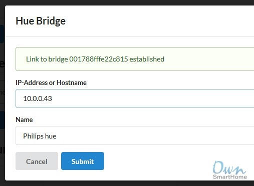 Hue Bridge linked Homematic
