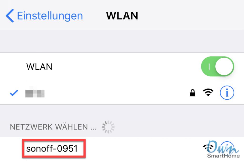 sonoff wlan
