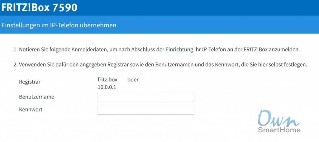 fritzbox telefon registrar