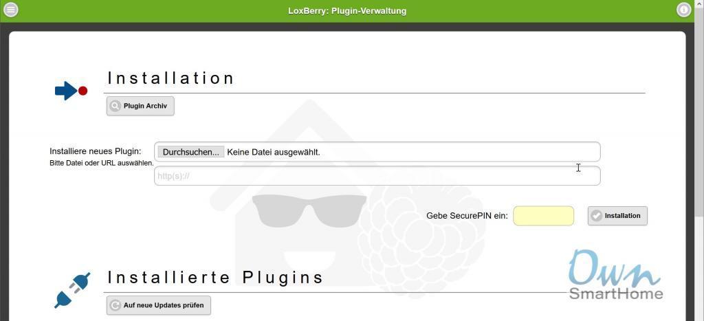 loxberry plugin verwaltung