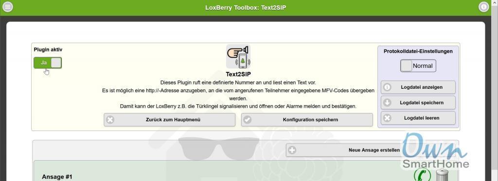 loxberry text2sip aktivieren