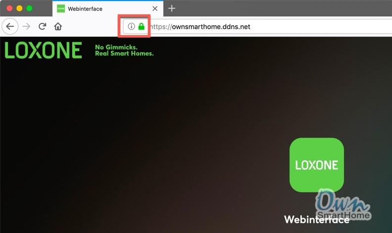 loxone https webinterface
